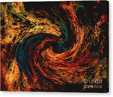 Canvas Print featuring the digital art Collision Of Evil Forces by Merton Allen