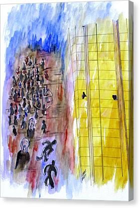 Evil In Action, Las Vegas Canvas Print