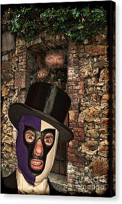 Evil Pro Wrestling Manager The Masked Conjuror Canvas Print by Jim Fitzpatrick