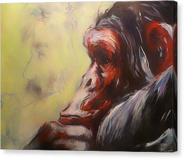 Chin On Hand Canvas Print - evo by Mountain Dreams