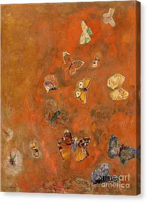 Fruit Canvas Print - Evocation Of Butterflies by Odilon Redon