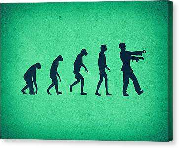 Creepy Canvas Print - Evolution Of Zombies Zombie Walking Dead by Philipp Rietz
