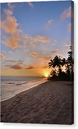 Tropical Sunset Canvas Print - Ewa Beach Sunset 2 - Oahu Hawaii by Brian Harig