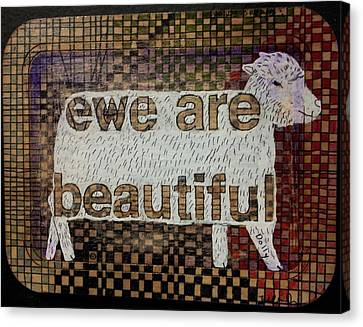 Ewe Are Beautiful Canvas Print by William Douglas