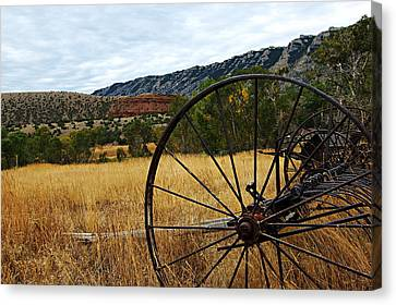 Bighorn Canyon National Recreation Area Canvas Print - Ewing-snell Ranch 3 by Larry Ricker