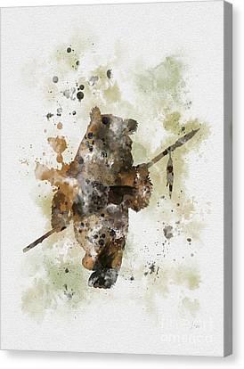 Ewok Canvas Print by Rebecca Jenkins
