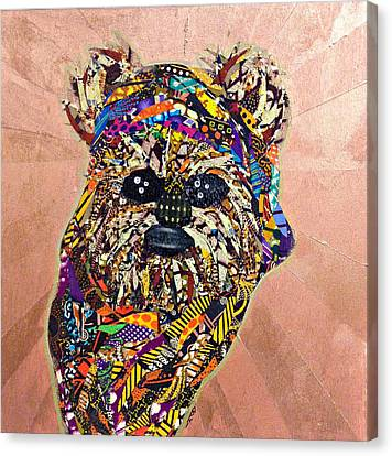 Canvas Print featuring the tapestry - textile Ewok Star Wars Afrofuturist Collection by Apanaki Temitayo M