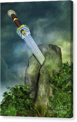 Excalibur By Sarah Kirk Canvas Print by Sarah Kirk