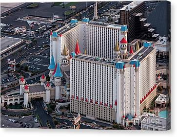 Excalibur Hotel And Casino Lv Canvas Print by PhotoStock-Israel