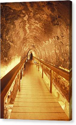Excavations Of The Ancient Water Tunnel Canvas Print by Richard Nowitz