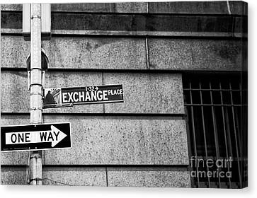 Exchange Place Canvas Print - Exchange Place by John Rizzuto