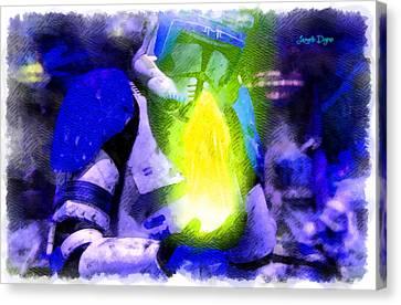 Execute Order 66 Blue Team Commander  - Cartoonized Style -  - Da Canvas Print by Leonardo Digenio