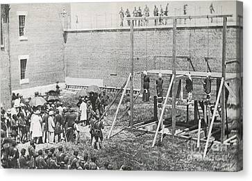 Execution Of The Booth Conspirators Canvas Print
