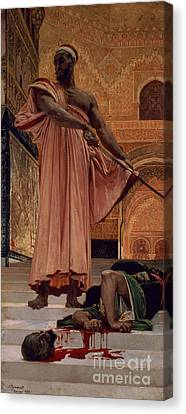 Execution Without Trial Under The Moorish Kings In Granada Canvas Print by Henri Alexandre Georges Regnault