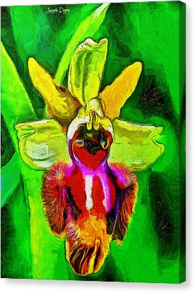 Orchids Canvas Print - Executive Flower - Da by Leonardo Digenio