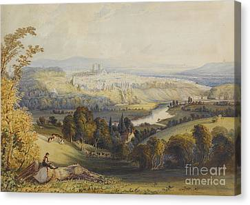Exeter From Exwick, 1773 Canvas Print