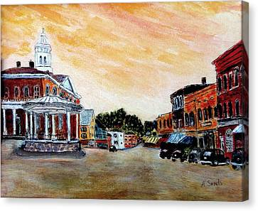 Exeter Nh Circa 1920 Canvas Print