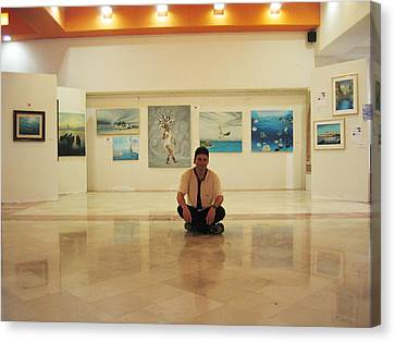Exhibition Pza. Pelicanos Canvas Print