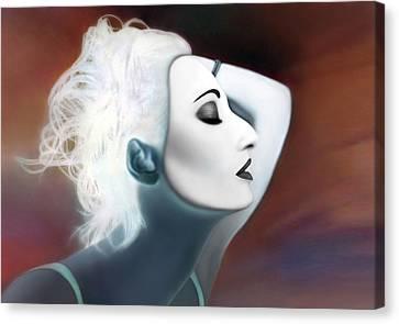 Bipolar Canvas Print - Existing In Extremes - Self Portrait by Jaeda DeWalt