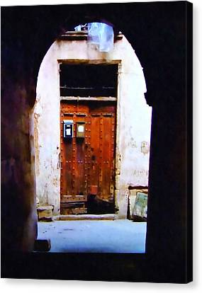 Medieval Entrance Canvas Print - Exit And Entrance by Stacey Chiew