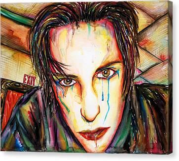 Exit Canvas Print by Joseph Lawrence Vasile