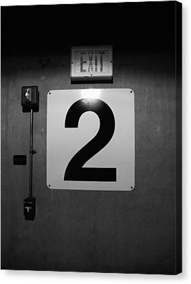 Canvas Print featuring the photograph Exit Two by Bob Orsillo