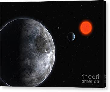 Gliese Canvas Print - Exoplanets, Gliese 581 Planetary System by European Southern Observatory