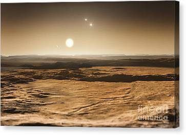 Gliese Canvas Print - Exoplanets, Gliese 667c Planetary System by ESO/Martin Kornmesser