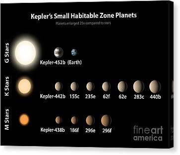 Exoplanets, Small Habitable Zone Planets Canvas Print by Science Source