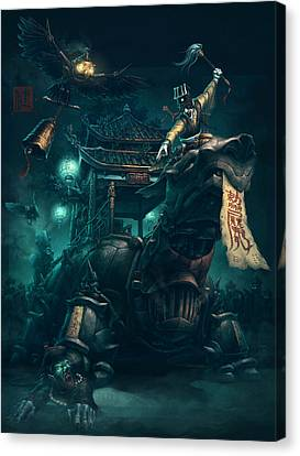 Exorcist Canvas Print by James Ng