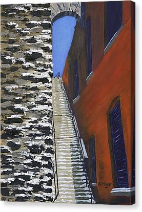 Exorcist Stairs In Winter Canvas Print