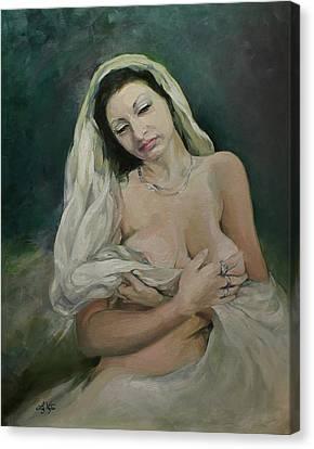 Exotic Beauty Canvas Print by Liz Viztes