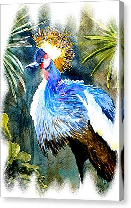 Canvas Print featuring the painting Exotic Bird by Steven Ponsford