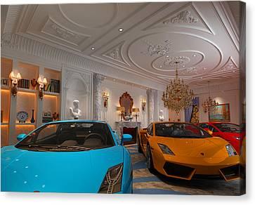 Exotic Italian Lamborghini Car Collection Canvas Print