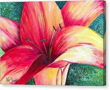 Pallet Knife Canvas Print - Exotic Lily by Viktoriya Sirris