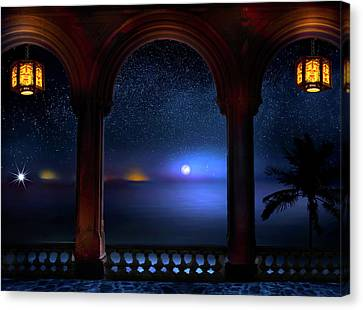 Canvas Print featuring the photograph Exotic Night by Mark Andrew Thomas