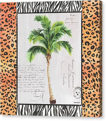 Cheetah Canvas Print - Exotic Palms 1 by Debbie DeWitt