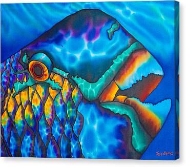 Exotic Parrotfish Canvas Print by Daniel Jean-Baptiste