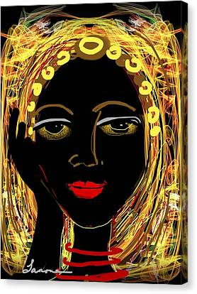 Exotic Woman Canvas Print by Elaine Lanoue