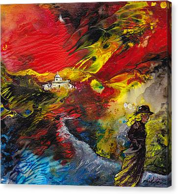 Expelled From The Land Canvas Print by Miki De Goodaboom