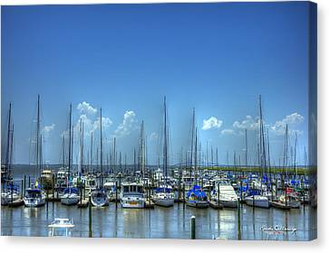 Expensive Toys Sailboats St Simons Island Georgia Canvas Print by Reid Callaway