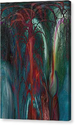 Experimental Tree Canvas Print by Linda Sannuti