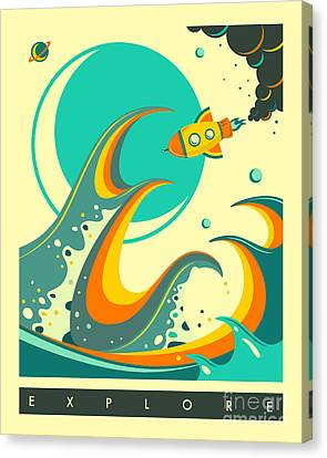 Explore 1 Canvas Print by Jazzberry Blue