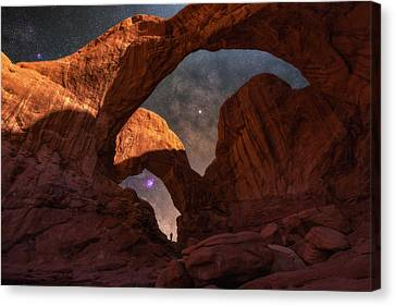 Canvas Print featuring the photograph Explore The Night by Darren White