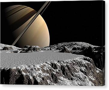 Canvas Print featuring the digital art Exploring A New World by David Robinson