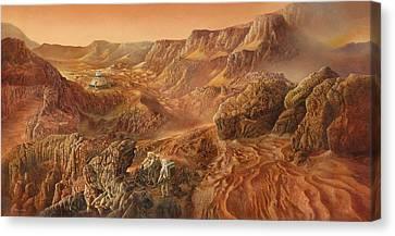 Exploring Mars Nanedi Valles Canvas Print