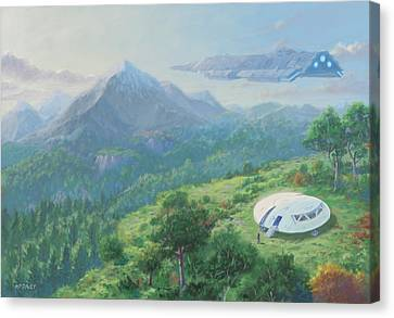 Canvas Print - Exploring New Landscape Spaceship by Martin Davey