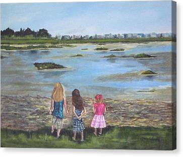 Exploring The Marshes Canvas Print