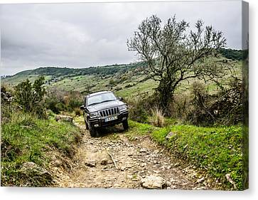 Exploring The Trails Canvas Print by Marco Oliveira