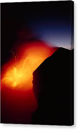 Explosion At Twilight Canvas Print by William Waterfall - Printscapes